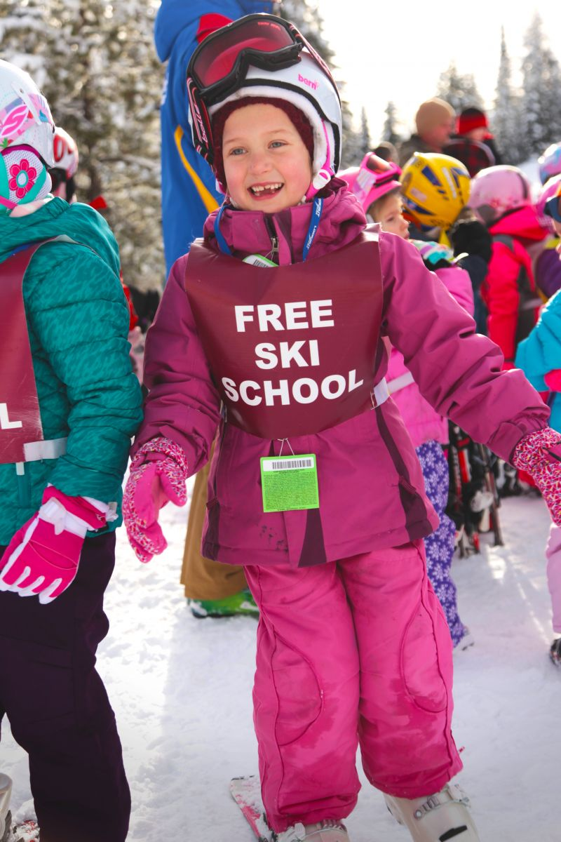 Little girl enjoying her time spent at the Free Ski School