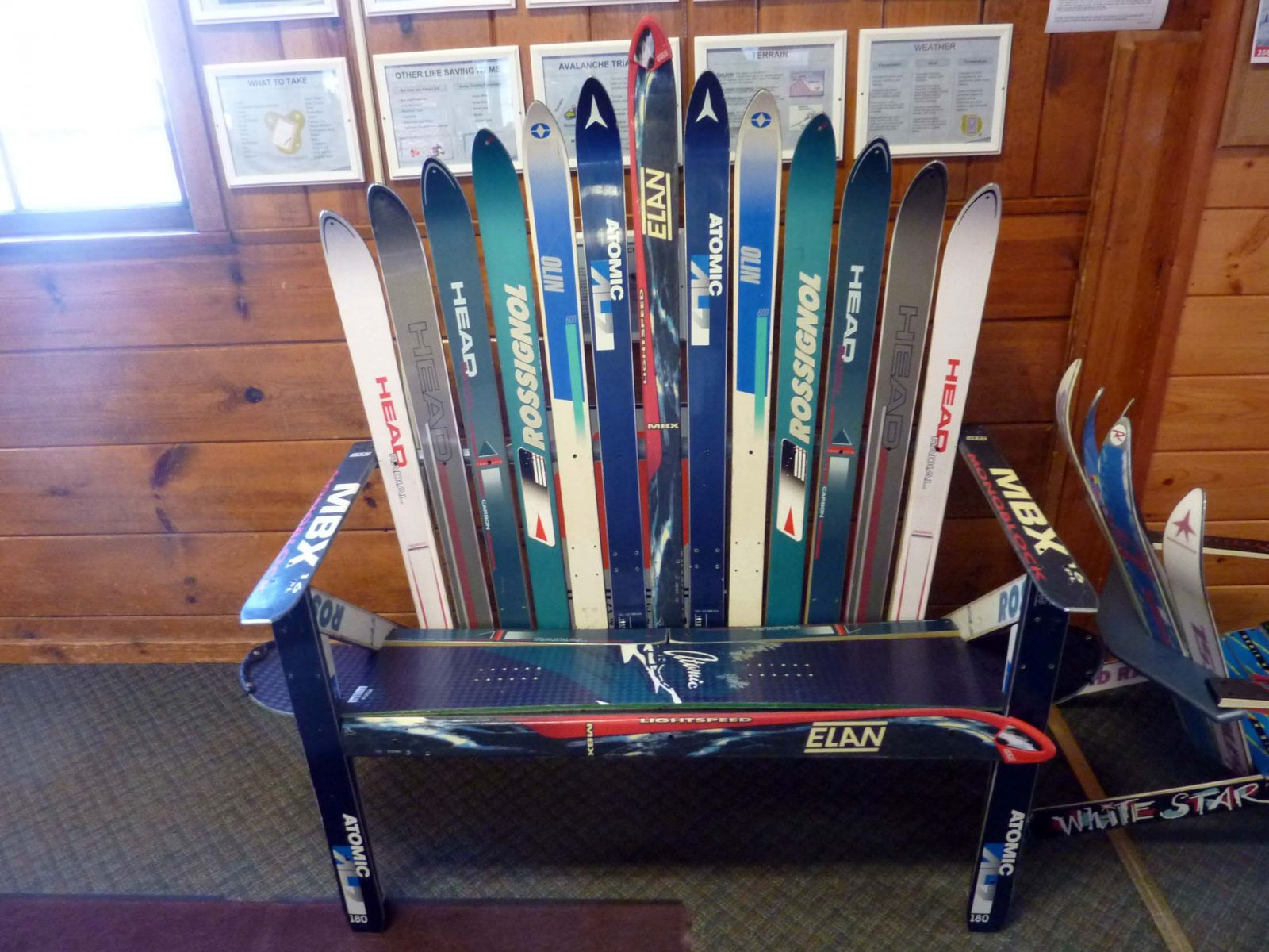 Ski bench sold at the 2015 raffle