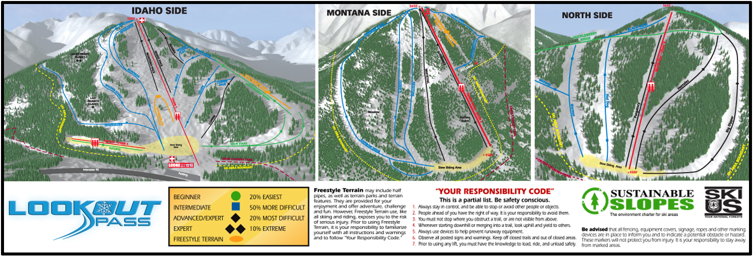 Trail Map Lookout Pass Ski Recreation Area
