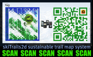 Sustainable trail map scanner